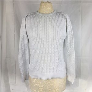 Basic Editions * White Cable Knit Sweater